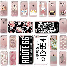 Funda Carcasa Pattern Skin TPU Soft Back Case Cover For iPhone4 5 6 7 Plus SE 5c