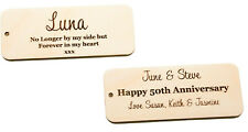 Wooden Planter Plaques Label Tags Gift Plaques Engraved Personalised Own Wording