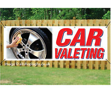 CAR VALETING BANNER SIGN outdoor waterproof with Eyelets 001