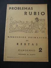 PROBLEMAS RUBIO, RESTAS Nº2. ANTIGUO CUADERNO ESCOLAR AÑO 1959