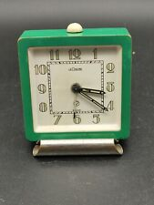 Art Deco Jaeger LeCoultre Travelling Alarm Clock In Lime Green
