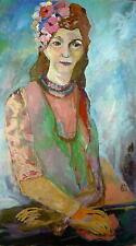 Halbportrait / Frau mit Blüten im Haar / Expressionist / Sammlung Beermann