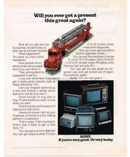 1970 SONY Portable Television TV VTG PRINT AD Toy Fire Truck