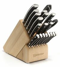 Wusthof Classic Ikon 22-Piece Knife Block Set, Black, MSRP $3044 (9822)