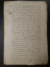 España 1612 increíble manuscrito tierras Venta. Original. rara marca de agua