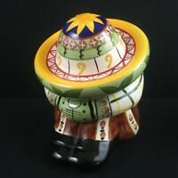 VTG Cookie Treat Jar WCL Pottery Siesta Sombrero Sleeping Mexican Hispanic A