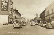 Ellensburg WA Business District Vintage Cars & Stores Real Photo Postcard
