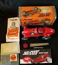 ORIGINAL REAL McCoy Midget Racer Gas Engine 19 Tether Car Org Box 1950s N.O.S.