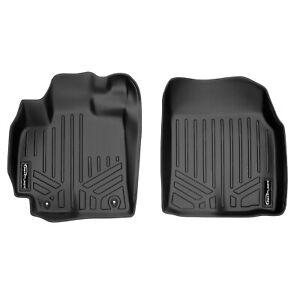 SmartLiner All Weather Custom Fit Floor Mats Liner for Corolla Front Black