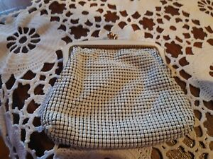 Vintage OROTON White Mesh Coin Purse Made in West Germany