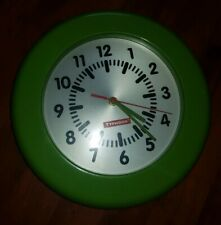 Tyfoon Fab Olive Green Stainless Steel Wall Clock 100% Perfect WORKING ORDER