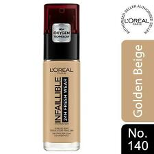 L'Oreal Paris Infallible 24H Freshwear Liquid Foundation 140 GoldenBeige, SPF 25