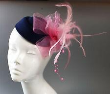 Customised Pill Box Hat Fascinator Clip Wedding Royal Ascot Races Hatinator