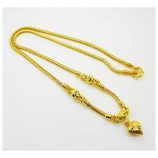 Heart Pendant 24K Thai Baht Yellow Gold GP 20 inch 20 G Necklace Jewelry Women