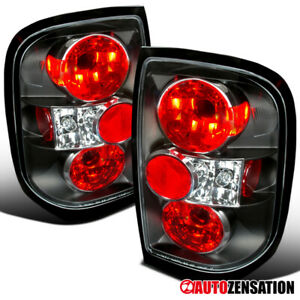 For 1996-2004 Nissan Pathfinder 1997-2004 Infiniti QX4 Black Tail Lights Lamps