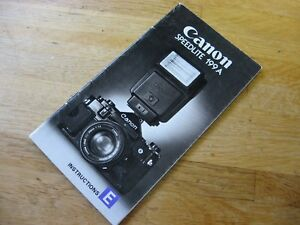 Vintage Canon Speedlite 199A Flash Owner's Manual