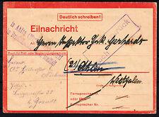 ❷❸ DR Eilnachricht Vordruck echt gelaufen mit Besonderheiten. Ansehen ! RARITÄT