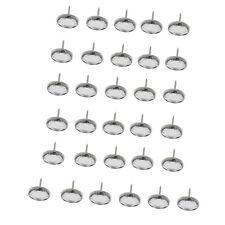 25pcs Diamante Nails Buttons Tacks Stud Pins For Headboard Sofa Upholstery