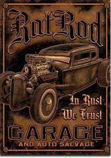 Fridge Magnet 2x3 Rat Rod Garage Distressed Retro Vintage Tin Sign