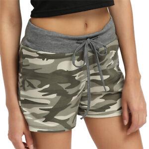 Women Summer Camouflage Shorts Ladies Elastic Waist Casual Beach Short Hot Pants