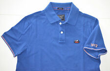 NWT Men's Abercrombie & Fitch Short-Sleeve Polo Shirt, Blue, L, Large (A&F 1892)