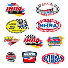 Adesivi Drag Racing sticker Decal IHRA NHRA NMCA auto moto print pvc 10 pz.