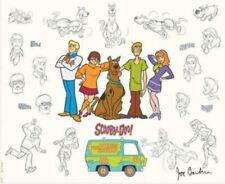 Hanna Barbera- Scooby-Doo Mystery Gang Model Sheet Signed By Joe Barbera