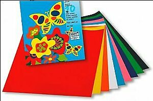 10 Pack Gummed 29cm Paper for Kids Crafts | Coloured Card for Crafts