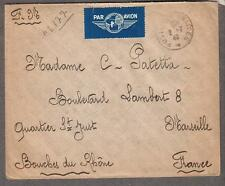 2-7-1940 WWII France Post Aux Armees par avion cover F. 916 No 177 to Marseilles