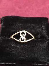 14 K Gold Initial Ring S size 6