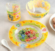Children's Glass Dinner Service Set Plate, Bowl Mug Fixies Fiksiki Фиксики
