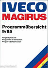 Fire Truck Brochure - Iveco Magrius - Product Line Overview - 1985 9/85 (DB184)