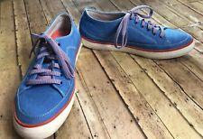 fitflop Super T Sneaker Shoes 6 M 184-226 Blue Canvas Rubber Soles EUC
