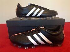 Adidas Adipure PRO11TRX Fg Cuir Chaussures De Football UK 6 Noir/Blanc/Orange