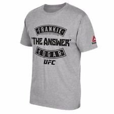 "Frankie Edgar UFC Reebok Men's Grey ""The Answer"" Graphic Print T-Shirt"