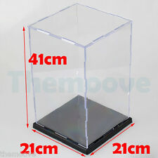 41cm Acrylic Plastic Display Case Perspex Box Dustproof Protection Show Box AU