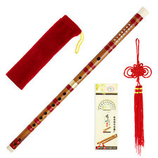 Traditional Handmade Dizi Bamboo Flute Chinese Musical Instrument F key