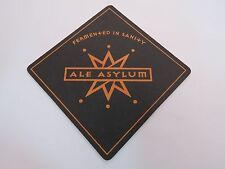 Beer Bar COASTER <> ALE ASYLUM Brewing, Fermented in Sanity ~ Madison, WISCONSIN