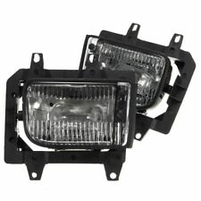 2Pcs Bumper Front Crystal Clear Fog Light Lamp Case Cover For BMW E30 318i 318is