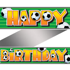 12ft Football Soccer Birthday Party Happy Birthday Foil Banner Decoration