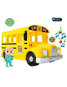 Cocomelon Musical Yellow School & JJ Toy Action Figure Musical Sing Along
