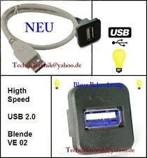 USB Einbaubuchse BELEUCHTUNG 50cm passsend für VW T4 T5 T6 Multivan Touran Ford