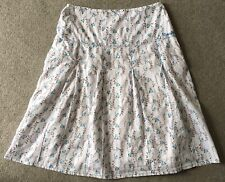 Weird Fish Ladies White Pattern Lined Summer Skirt Size Small
