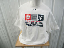 VINTAGE MAJESTIC MLB NEW YORK YANKEES BASEBALL ESTABLISH 1903 2XL SHIRT NWT