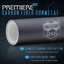 "60""x108"" In Vinyl Wrap Bubble Free Air Release - 4D Gunmetal Carbon Fiber Gloss"