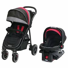 Graco Aire4 XT Click Connect Car Seat, Base, and Stroller Travel System, Marco