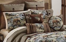 Croscill Kodiak Bear Rustic California W/C King Comforter Set Pillows Euro 9Pcs