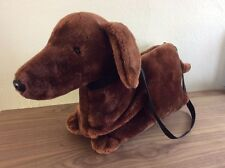 Wheelie Bag Dachshund Weiner Puppy Dog Purse Travel Tote  - Leash Pull Along