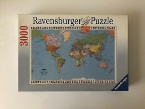 3000 Pieces Jigsaw Puzzle Ravensburger Political World Map Very Rare Puzzle