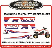 1986 HONDA FOURTRAX 250 R DECAL SET  4X4  sticker, reproduction